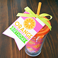 Orange Birthday Gift