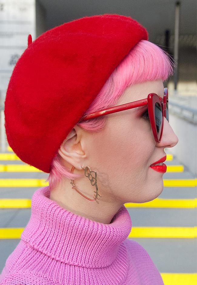 ootd, Hello Kitty, pink hair