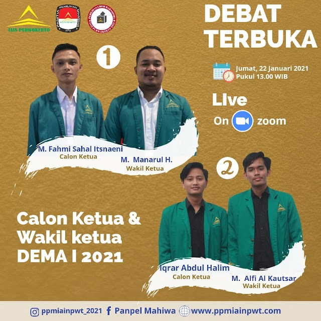 PPM Adakan Debat Calon Presiden dan Wakil Presiden IAIN Purwokerto