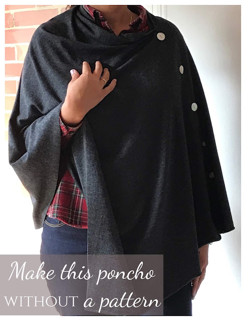 Make this DIY wool poncho in 30 minutes!