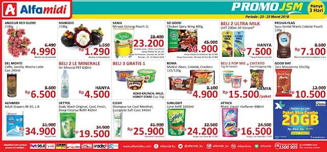 Katalog Harga Promo ALFAMIDI JSM Akhir Pekan Weekend 23 - 25 Maret 2018