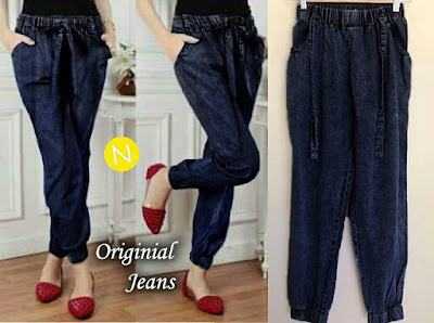 Jual Celana Panjang Jogger Pants Washed Jeans - 12261