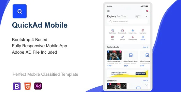 Best Classified Mobile HTML Template