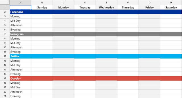 facebook posting schedule template - saving time on social media the chilly dog