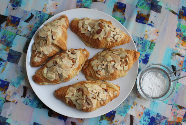 Food Lust People Love: Sweet almond filling and almond syrup transform stale croissants into delicious, more-ish Croissants aux Amandes or Almond Croissants. They are perfect for breakfast or an afternoon snack.