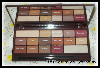 paleta sombras chocolate elixir i heart makeup