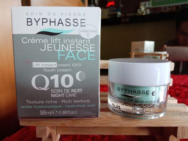 Hidratante Facial Byphasse Crème Lift Instant Jeunesse Face Q10 Soin deNuit