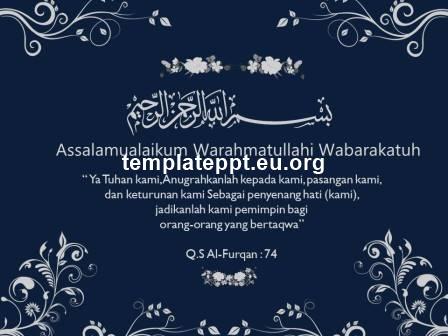 Slide 4 template power point undangan pernikahan islami gratis
