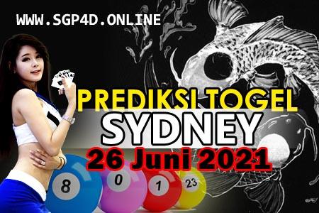 Prediksi Togel Sydney 26 Juni 2021