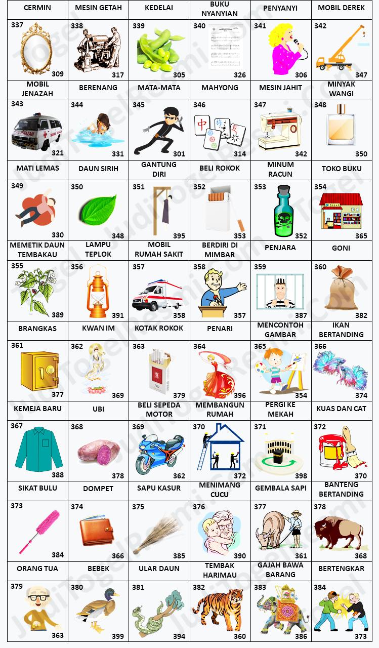 Buku Mimpi 3D Bergambar 337-384