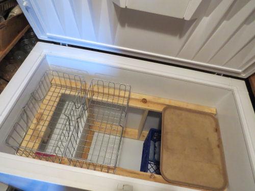 clean empty chest freezer