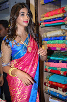 Puja Hegde looks stunning in Red saree at launch of Anutex shopping mall ~ Celebrities Galleries 085.JPG