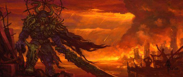 Handflammen Werfer artstation arte ilustrações sombrias ficção científica fantasia