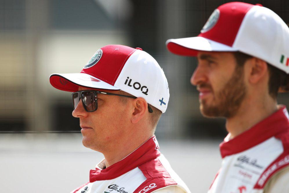 Giovinazzi e Raikkonen estão em sua terceira temporada como companheiros de equipe
