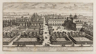 An illustration from the collection of garden views created by Giovanni Battista Falda, entitled Giardini di Roma