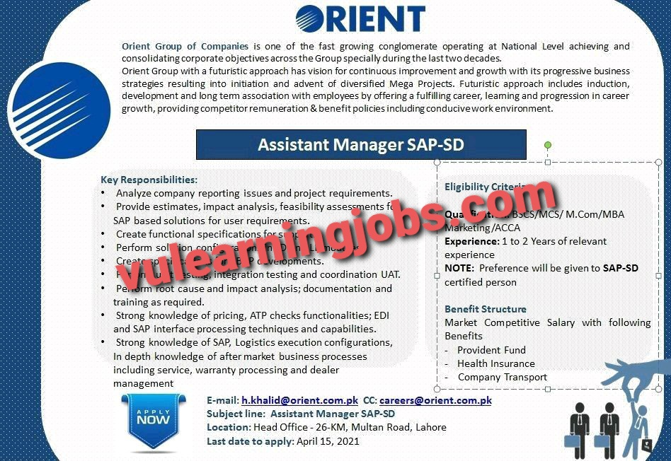 Orient April Jobs In Pakistan 2021 Latest | Apply Now