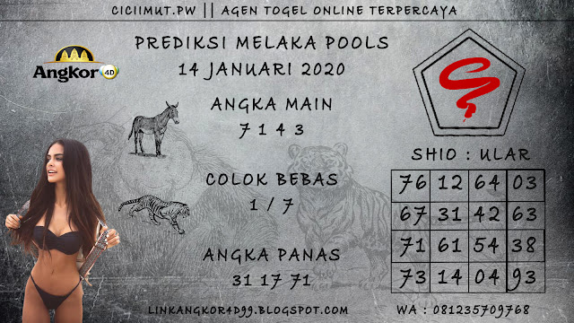 PREDIKSI MELAKA POOLS 14 JANUARI 2020