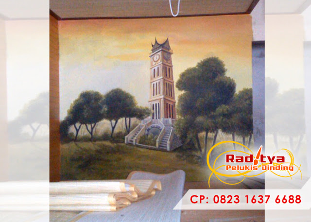 Café mural wallpainting