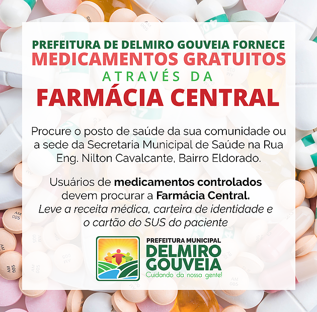 Prefeitura de Delmiro Gouveia fornece medicamentos gratuitos através da Farmácia Central