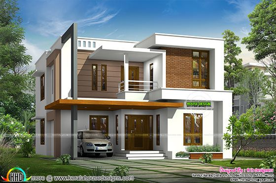2132 sq-ft modern 4 bedroom house