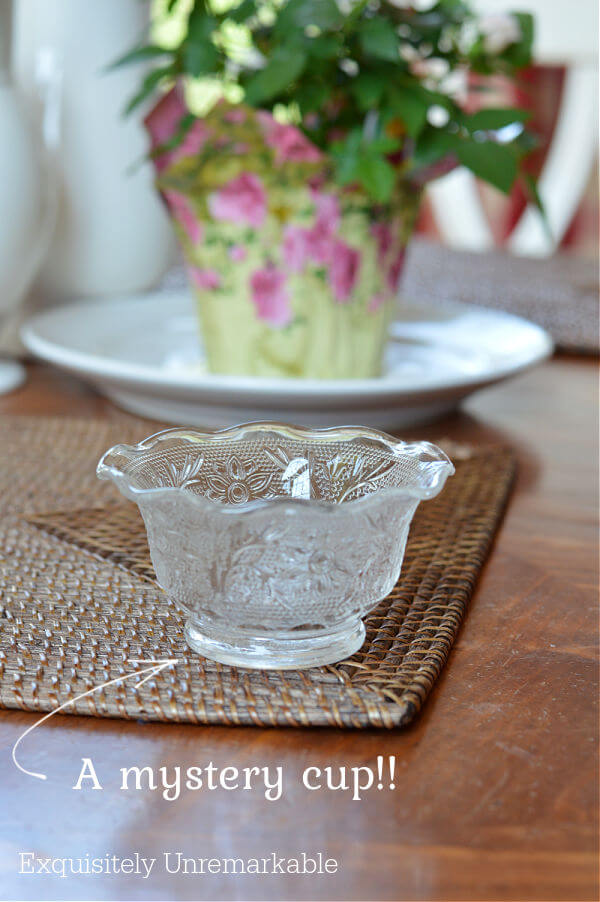 A Glass Punch Cup