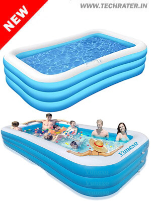 Inflatable Swimming Pool with Electric Air Pump