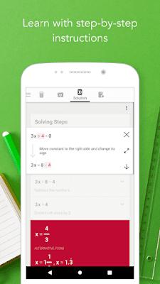تطبيق Photomath لحل مسائل و معادلات الرياضيات