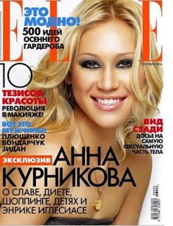Anna Kournikova On Magazine Cover