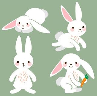 Los cuatro conejos blancos