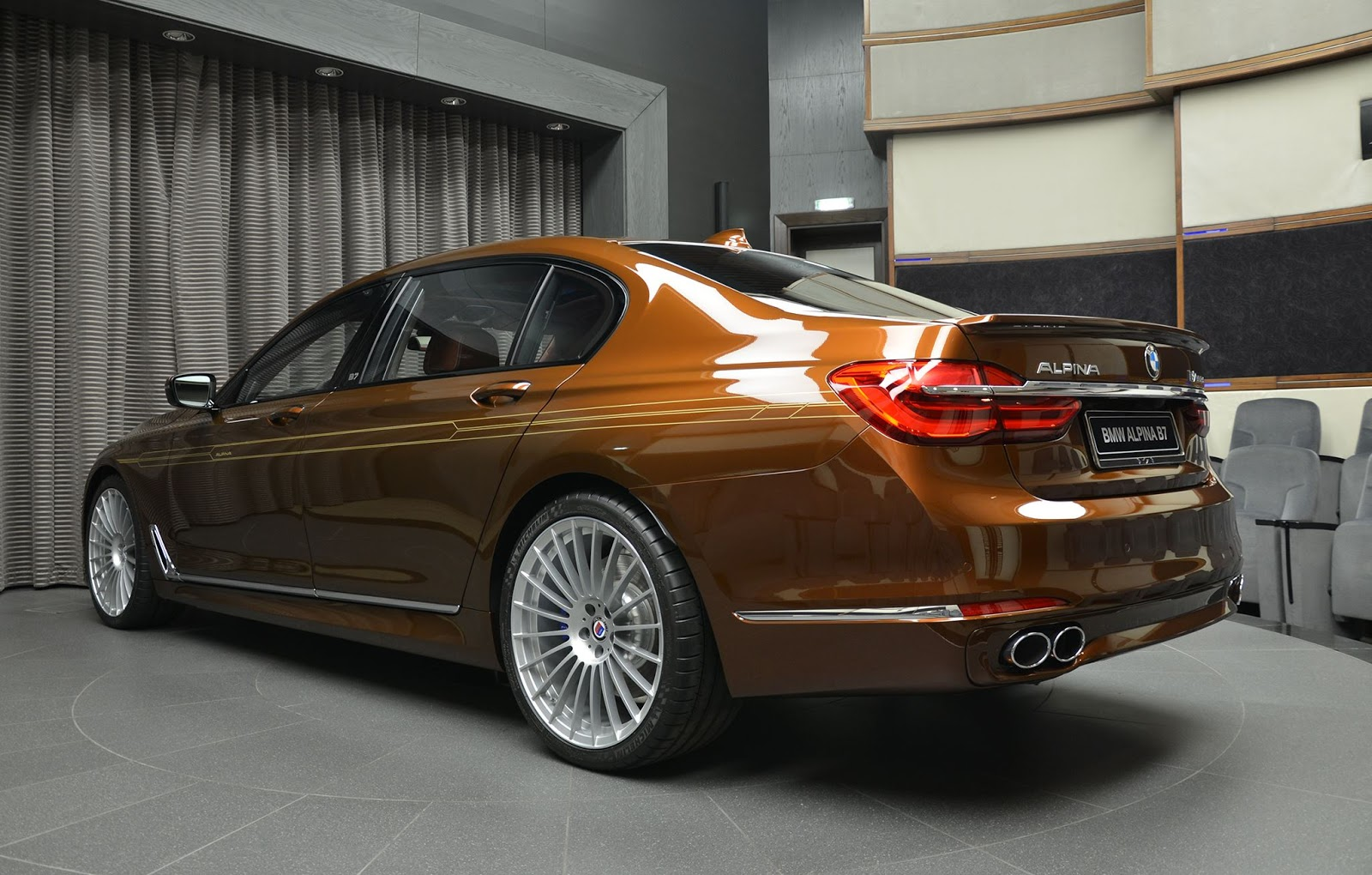 Alpina B7 2017 >> Alpina B7 Individual Certainly Looks Different In Chestnut Brown With Gold Accents | Carscoops