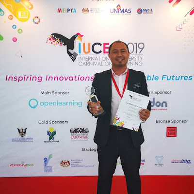 Menang Best Trendsetter Award di IUCEL 2019 @ UNIMAS Sarawak