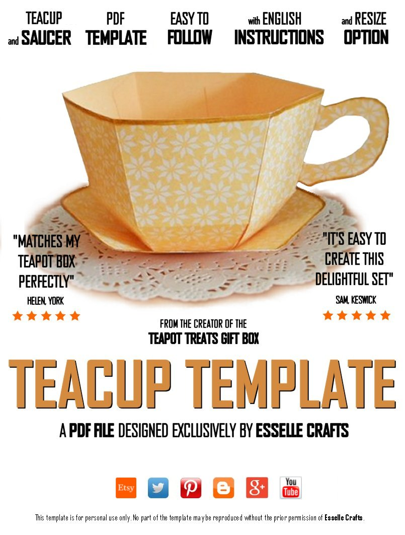 Esselle Crafts Teacup Template