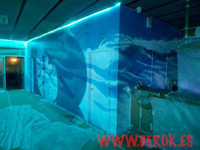 graffiti la daurada Beach Club Vilanova