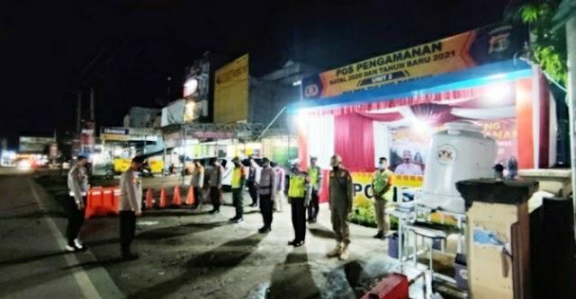 Dalam Rangka menyambut Natal 2020 dan Tahun Baru 2021 Polres Tuba siagakan Pos Kamtibcar