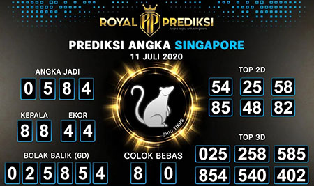 Royal Prediksi Togel Singapura Sabtu 11 Juli 2020