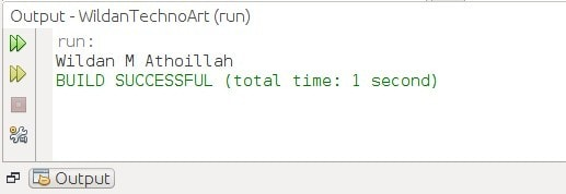 Output dari statement switch menggunakan tipe data angka