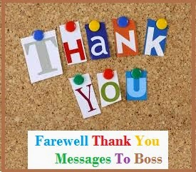 Before leaving your office it is nice to say thanks to your boss ...