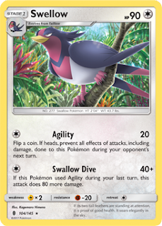 Swellow Guardians Rising Pokemon Card