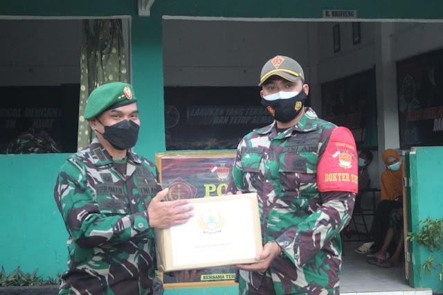 Satgas Pamtas RI-PNG Yonif 131/Braja Sakti Terima Kunjungan Kapuskesad