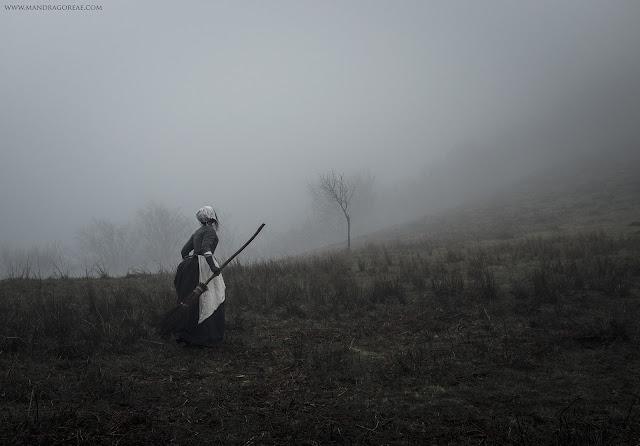 Samhain Blessings, 18th century witch, Misty Moors, Handmade Besom Broom, Aker Dantzaria, Mandragoreae by Victoria Francés
