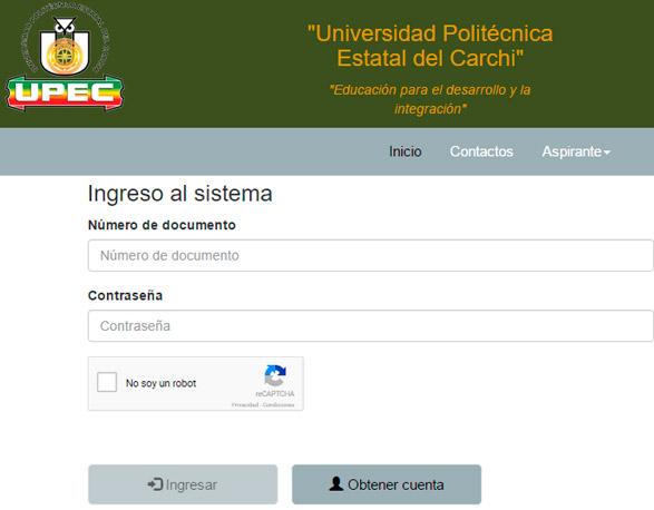Consultar Asignación de Cupos Universidad Politécnica Carchi 2017 Resultados UPEC www.upec.edu.ec