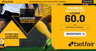 betfair supercuota Valencia gana Getafe 29 enero 2019