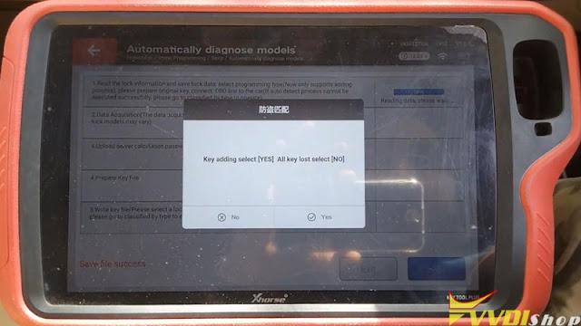 xhorse  vvdi key tool plus benz w204 2007 add key 8