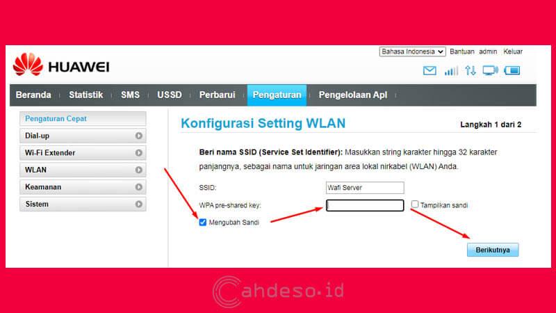 Cara Mengganti Password Wifi di MiFi Huawei Semua Tipe