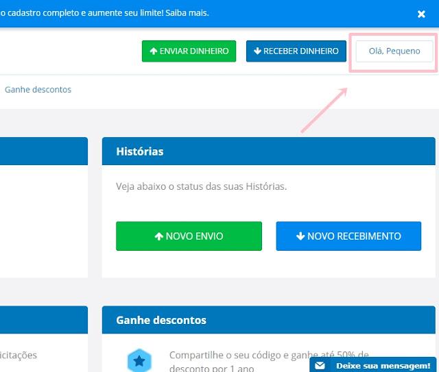 Como adicionar a conta bancaria no Remessa Online