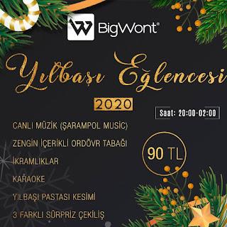 Big Wont Kayseri Yılbaşı 2020 Programı Menüsü
