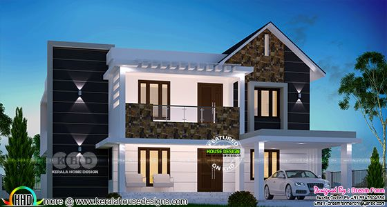 2360 square feet mixed roof home plan with 4 bedrooms