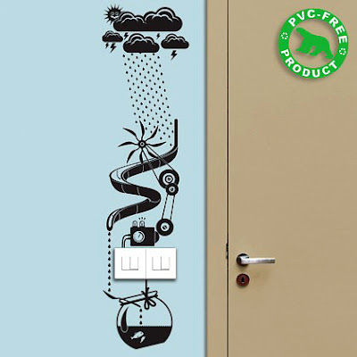 Ideas ecológicas para decorar la pared.