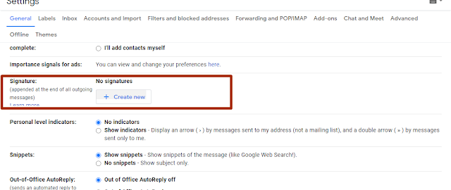 How to add or Change signature In Gmail ?