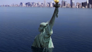 El deshielo de groenlandia amenaza las ciudades costeras.